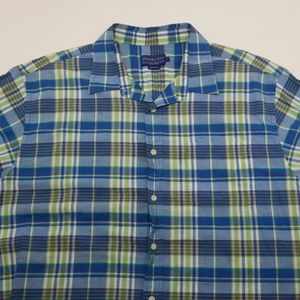 Pendleton Plaid Short Sleeve Button Down Shirt